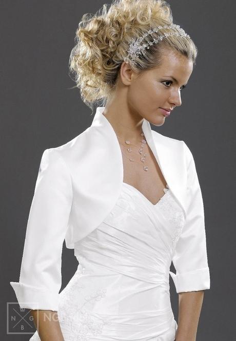 NG Bridal Bolero Jacke Brautkleid Brautjacke - BOL-55 Satin S-M-L-XL ...