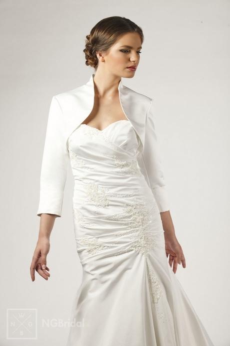 NG Bridal Bolero Jacke-Braut bolero BOL-1Satin Gr-50-52-54-56-58-60 ...